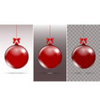 christmas glass ball xmas decoration vector image vector image