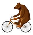circus bear icon cartoon style vector image vector image