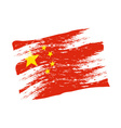 color china national flag grunge style eps10 vector image vector image