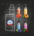 color sketch set electronic cigarette vector image