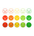 Colored flat icons of emoticonsdifferent emotions