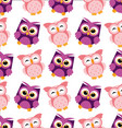 colorful owl pattern vector image