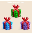 Colors Christmas gift box vector image vector image