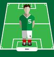 Computer game Iran Football club player vector image vector image