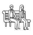 Couple business sitting in park chair avatar