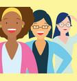 diversity woman people vector image