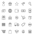 E commerce line icons on white background vector image vector image