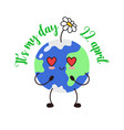 earth day 22 april banner vector image vector image