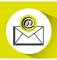 email mail concept chat message icon vector image