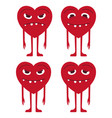 emoticons heart setemoji heart vector image
