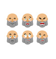 Emotions man Set emoji avatar people Good and evil vector image vector image