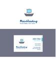 flat boat logo and visiting card template vector image vector image