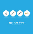 flat icon stationery set of nib pen clippers vector image vector image