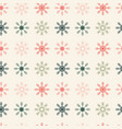 geometrically located snowflakes seamless vector image vector image