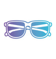 glasses icon in degraded purple to blue contour vector image
