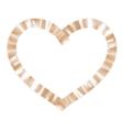 Gold ribbon heart EPS 10 vector image