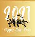 happy 2021 new year emblem or vector image