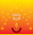 happy diwali greeting traditional design vector image vector image