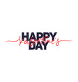 happy valentines day handwritten lettering holiday vector image