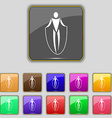 jump rope icon sign Set with eleven colored vector image