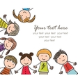 laughing children vector image