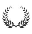 laurel wreath icon award and winner symbol vector image vector image