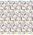 love lettering seamless pattern written vector image