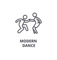 modern dance thin line icon sign symbol vector image vector image