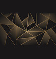 modern mosaic background in black and gold vector image vector image
