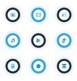 multimedia icons colored set with gadget wifi vector image vector image