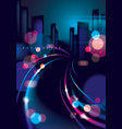 night city with blurred lights bokeh texture vector image vector image