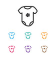 of infant symbol on bodysuit vector image