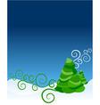 ornate christmas tree vector image vector image
