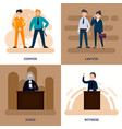 people in court square composition vector image vector image