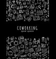 people in coworking office seamless pattern for vector image vector image
