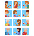 people with cup in his hand drinking hot coffee vector image vector image
