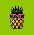 pineapple cartoon logo vector image