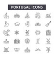 portugal line icons signs set outline vector image vector image