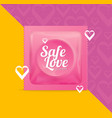 realistic 3d detailed condoms package safe love vector image vector image