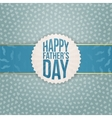 Realistic Graphic Element for Fathers Day vector image