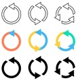 Rotating circle arrows vector image