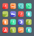 Running Icons Flat vector image