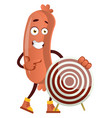 sausage with target on white background vector image vector image