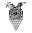 scandinavian tattoo 0007 vector image vector image