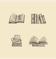 set books sketches vector image