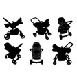 set different bastrollers vector image vector image
