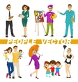 set of diverse people characters vector image vector image