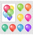 set party balloons on transparent background vector image vector image