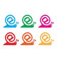 snail internet icon vector image vector image