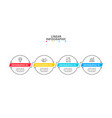 thin line flat circles infographic with colors vector image vector image